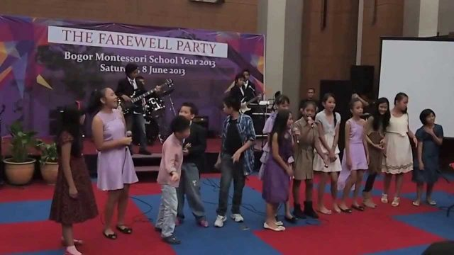 I'M YOURS, Bogor Montessori School Farewell Party 2013