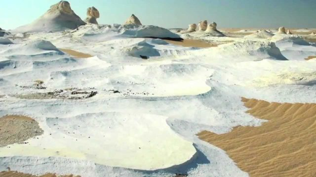 NASA Images of a Stunning Snow-Covered Desert