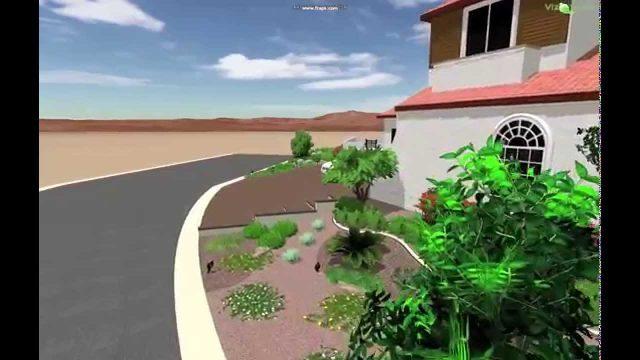 3D Front Yard Landscape
