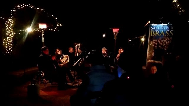 The Salt River Brass playing at the Desert Botanical Gardens Lumenaria event