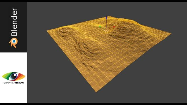 Desert Landscape + Mountain in Blender