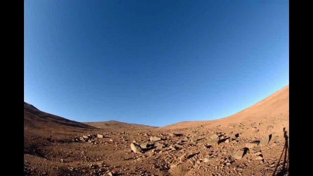 Compression Temporelle animée dans le desert d'Atacama ( nord Chili )