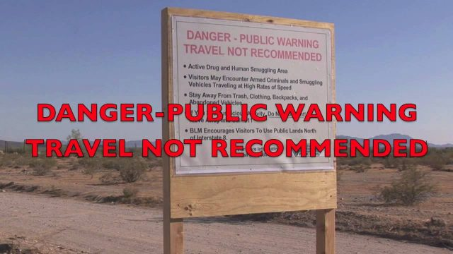 Federal Government Warning Sign for Arizona Desert