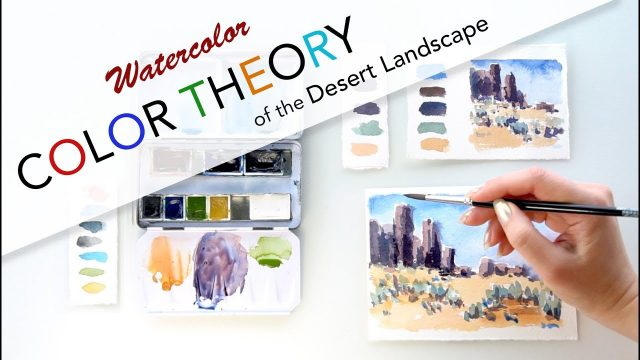 Color theory of the desert landscape