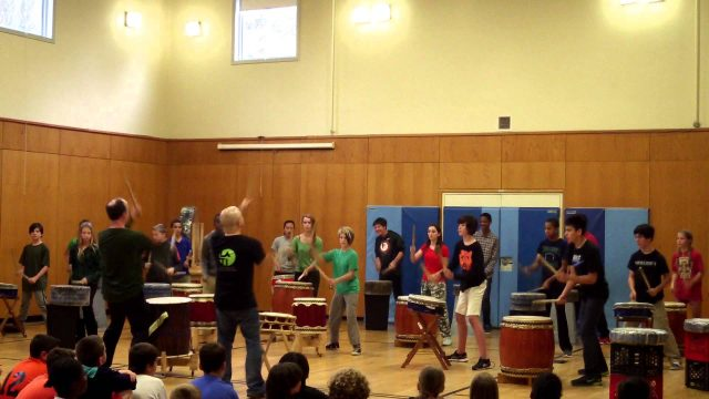Thacher Montessori AP Taiko with Mark H Rooney 10/21/14