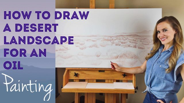 Desert Landscape Drawing: Part One, by Artist, Andrea Kirk |  The Art Chik
