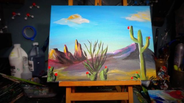 Simple Desert Landscape Painting