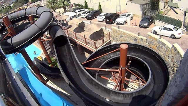 Dark Hole Water Slide at Pirates of the Cactus