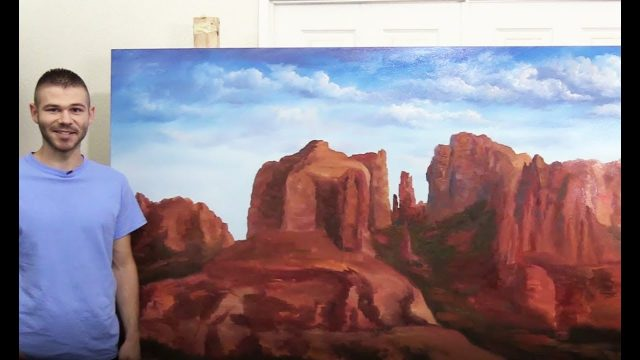 4×8 ft Canvas Desert landscape PART 1 🎨 200k Subscriber Special