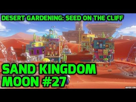 Super Mario Odyssey – Sand Kingdom Moon #27 – Desert Gardening: Seed on the Cliff