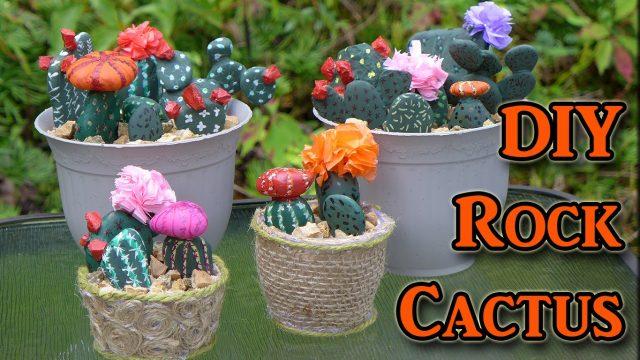 DIY Painted Rocks – Cactus Decorations