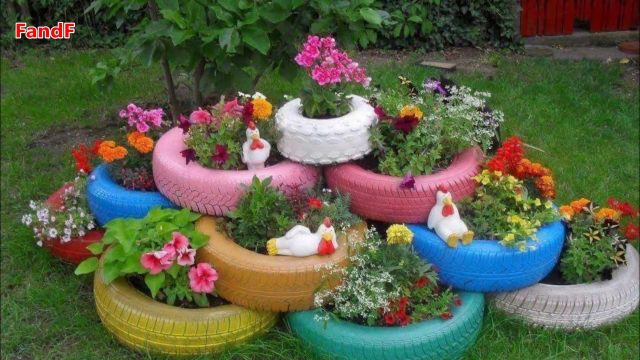 60 Garden Backyard and Landscape Ideas 2017 | Flower decoration #5