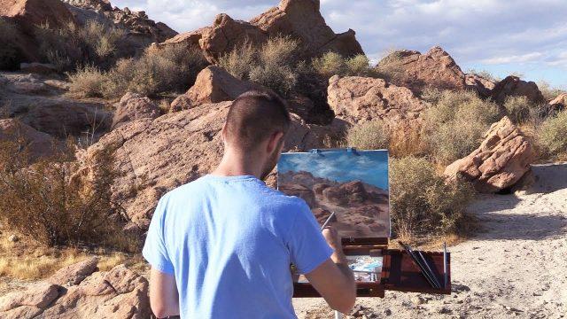 Plein Air Desert Landscape   Paint with Kevin ®