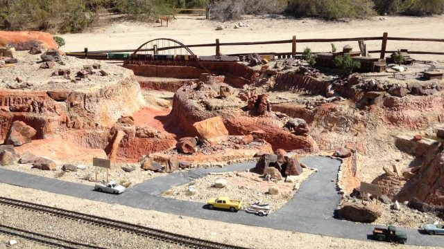 train layout at living desert