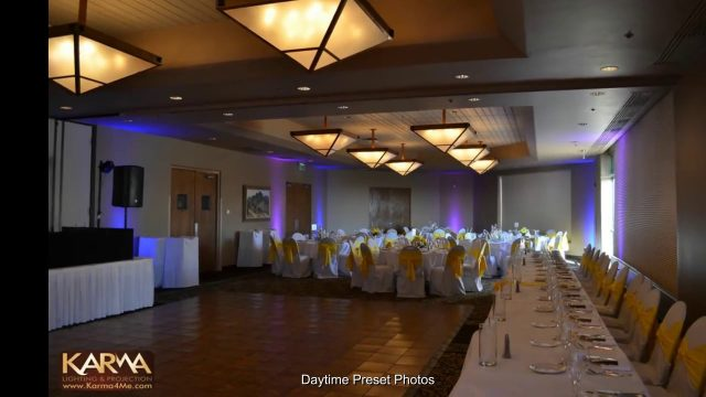 Blue & Purple Uplighting – Wedding Reception at Troon North Golf Club, Scottsdale AZ