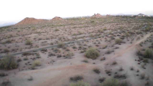 AR.DRONE 2.0 sunset flight at Papago Park, Phoenix, AZ