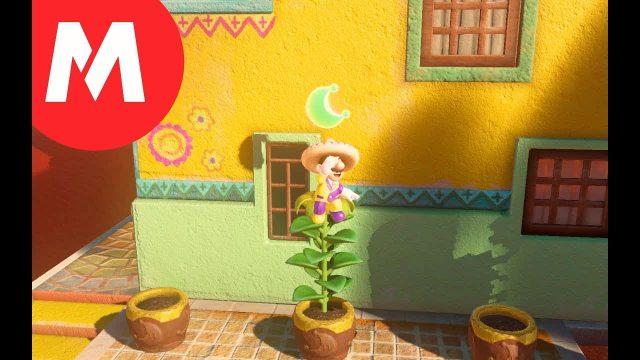 Mario Odyssey Moon Location: Desert Gardening: Plaza Seed – 咲いた! 広場の種