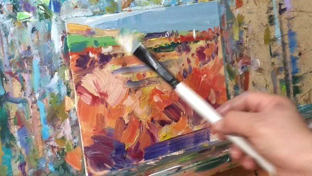 Impressionist Desert Landscape Oil Painting Demo – Alla Prima – Artist JOSE TRUJILLO
