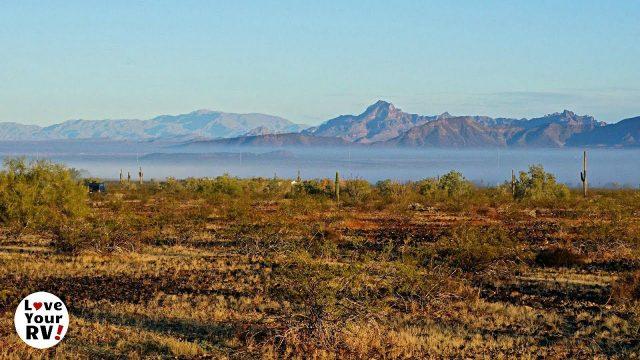 Foggy Sunrise in the Arizona Desert