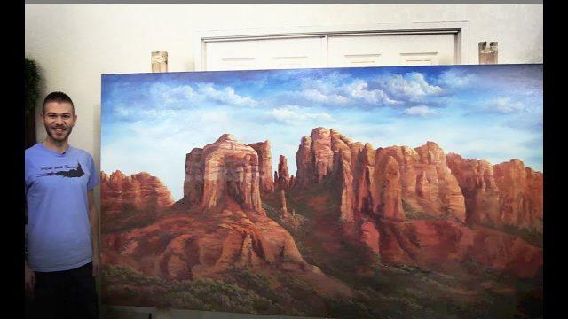 4×8 ft Canvas Desert landscape PART 2