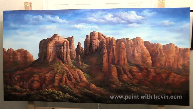FINAL EPISODE Desert Landscape 4x8ft canvas | Paint with Kevin ®