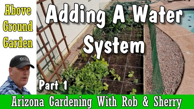 Arizona Above Ground Gardening Water System, with Rob & Sherry | Arizona Gardening | #AZ  #garden