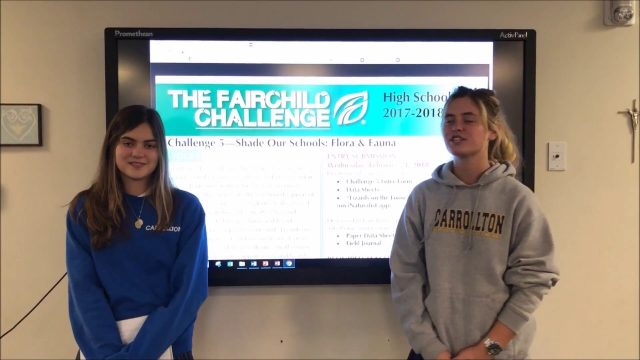 Carrollton School of the Sacred Heart – Fairchild Challenge 5 (HS): Lizards on the Loose – 2017-2018