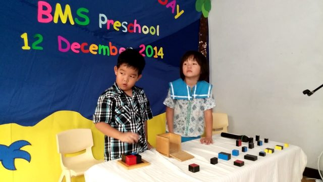 Me and juan in school present tasion in bogor montessori school