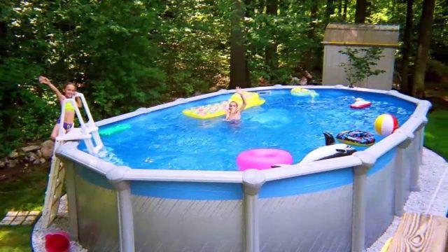 [Modern Backyard] Backyard Landscaping Ideas With Above Ground Pool [Small Backyard Ideas]
