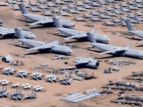 AIR FORCE ABANDONED PLANES IN ARIZONA DESERT