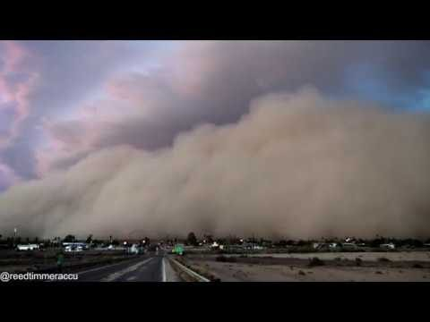 Time-lapses of jaw-dropping, monster HABOOB churning across southern Arizona desert