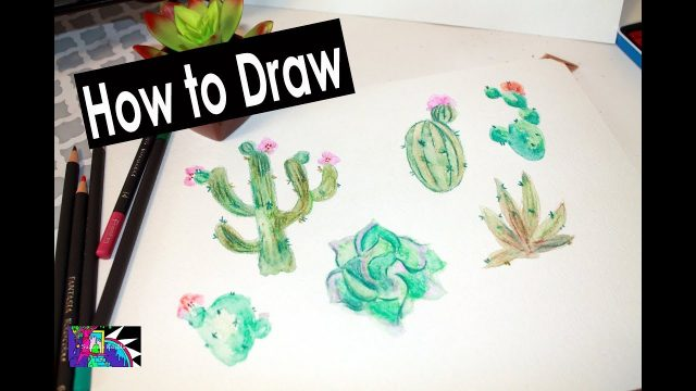 How to Draw Desert Plants | Watercolor Pencils