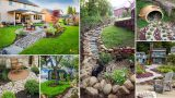 100 SUPER EASY DRY CREEK LANDSCAPING IDEAS YOU CAN MAKE |  DIY Garden