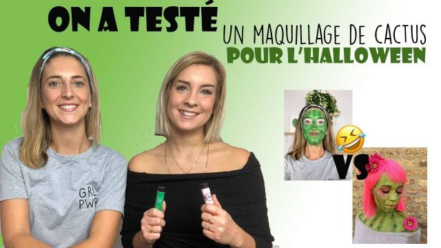 ON A TESTÉ : un maquillage de cactus pour l'Halloween!