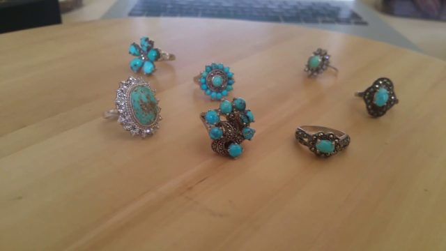 Luxury Jewelry Genuine Persian Turquoise for Wedding Gift, Engagement, Anniversary, Family Heirloom