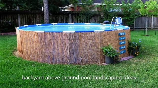 [Modern Backyard] Backyard Above Ground Pool Landscaping Ideas [Small Backyard Ideas]