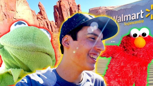 Elmo Goes To Walmart and GETTING CACTUS STUCK IN FOOT
