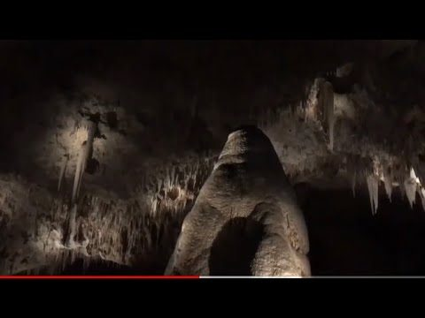 Inside a cave in the Chihuahuan desert