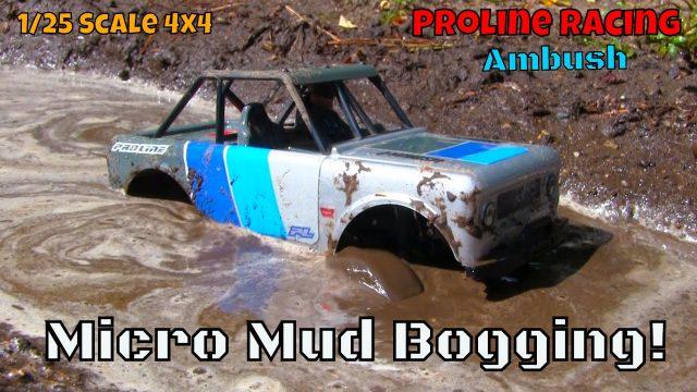 Micro RC Mud Bogging – Proline Racing 1/25 Ambush 4×4 Crawler