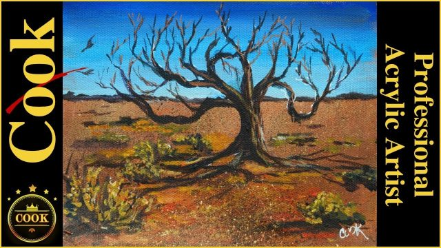 Three Insanely Easy Secrets for painting a Desert Landscape like a Pro  in Acrylics