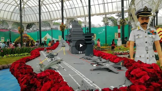 Flower show lalbagh 2018 Air Force