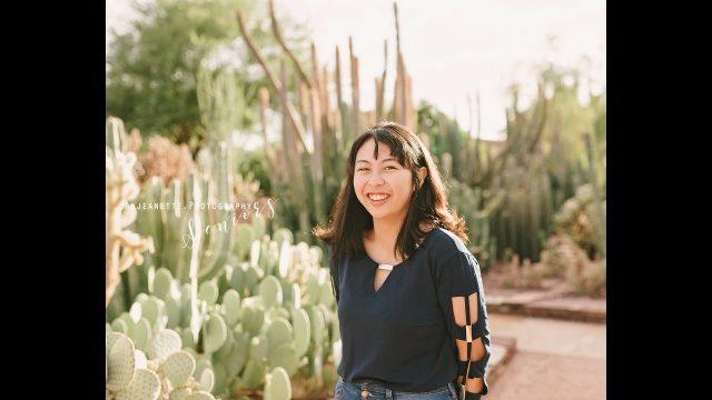 Kristen | Desert Botanical Gardens | Phoenix Az | Anjeanette Photography Seniors