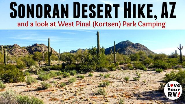 Desert Hike Near Pinal West (Kortsen) County Park, Arizona