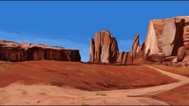 Desert Landscape – Photoshop Painting Timelapse