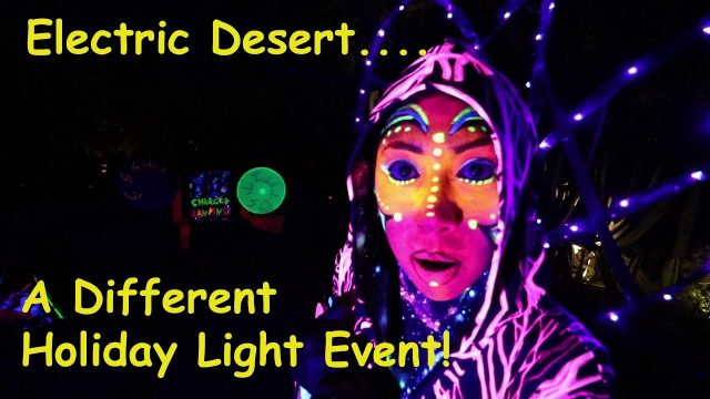 Desert Botanical Garden Christmas Lights // Electric Desert // Full Time RV