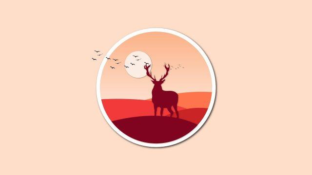 Illustrator Tutorial Logo design desert Landscape
