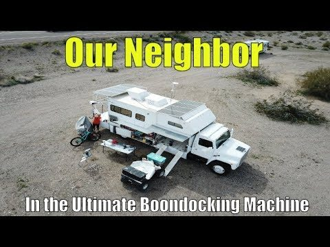Checking out the ultimate boondocking machine in the Arizona Desert!