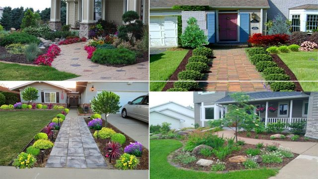50 Inspirational Front Sidewalk Landscaping Ideas | Garden Ideas