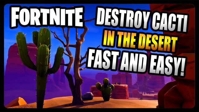 """Destroy Cacti in the Desert"" FASTEST and EASIEST Location! (Fortnite Season 8)"