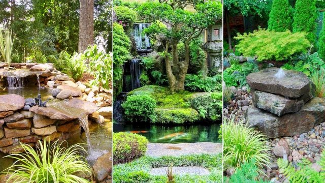 80 FRESH BACKYARD PONDS AND WATER GARDEN LANDSCAPING IDEAS